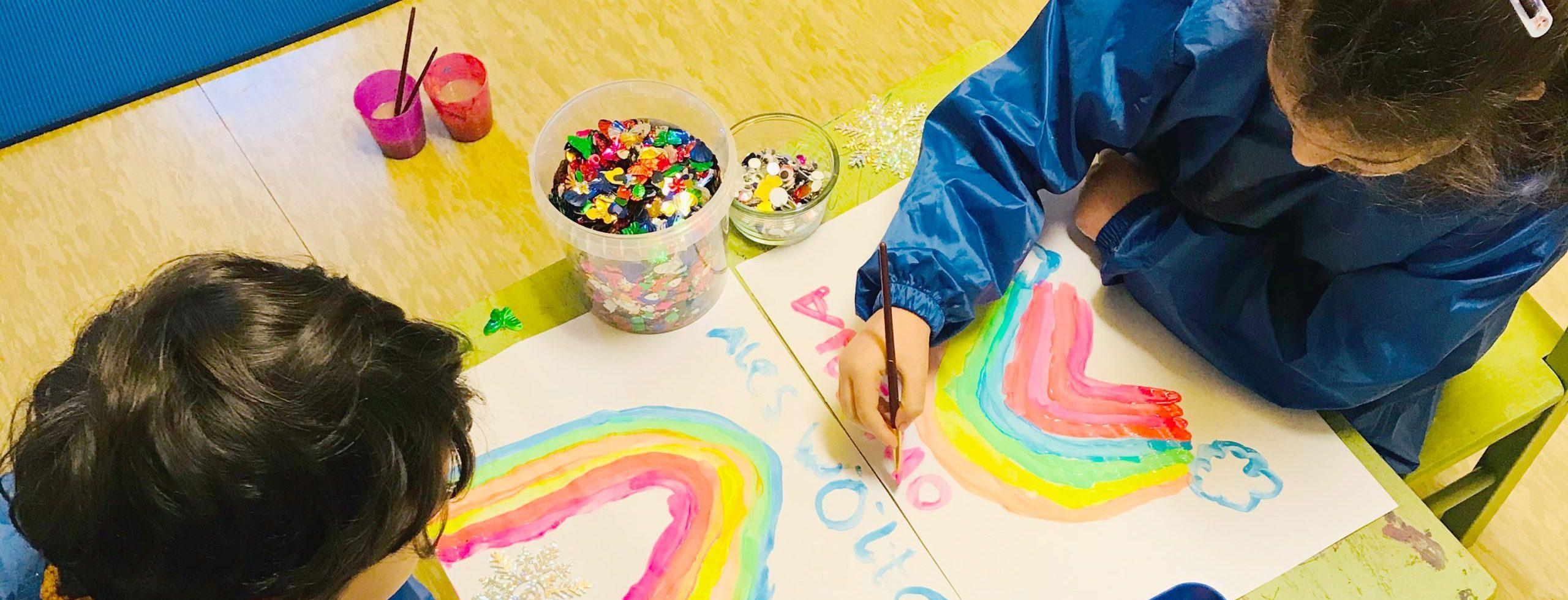 Familienzentrum Droryplatz Kinder malen